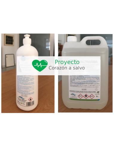Gel desinfectante hidroalcoholico 5...