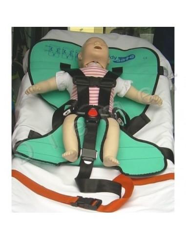 Sistema sujeción pediátrico para camilla
